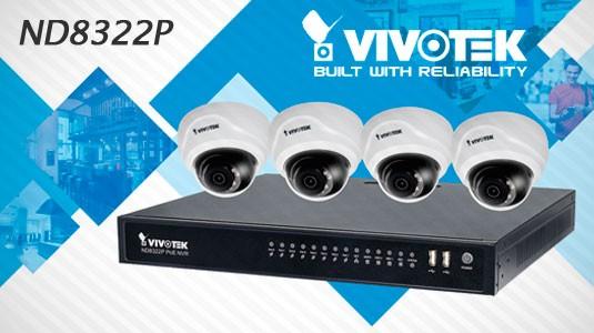 VIVOTEK ND8322P es un Linux embebido 8-canales con 8 puertos 802.3at / af PoE